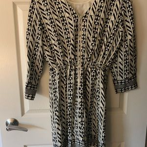 Madewell graphic dress with zipper down back
